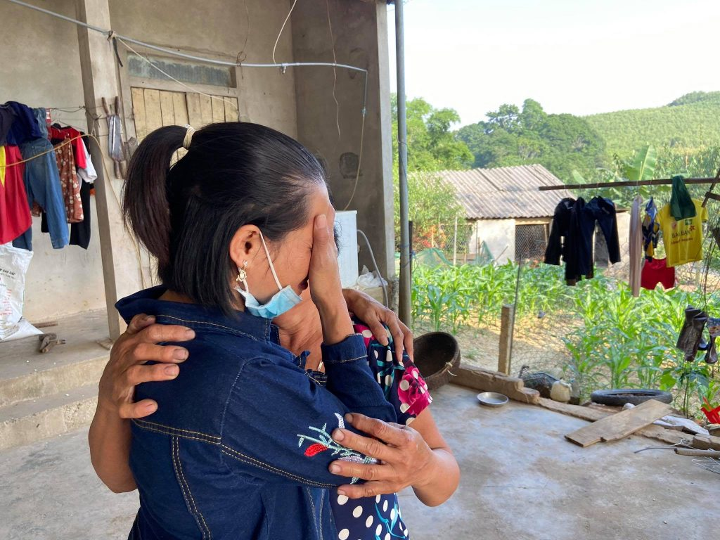Duong and her mother, reunited after 21 years in slavery.